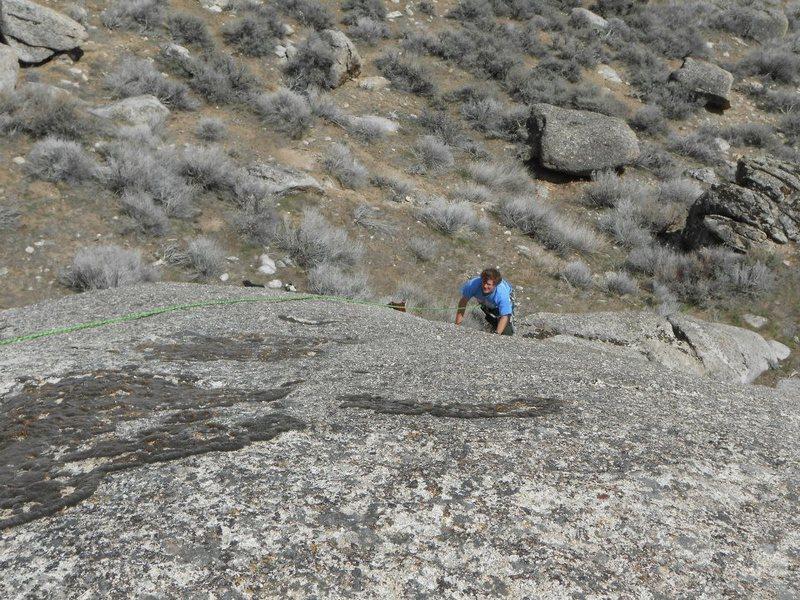Rock Climbing Photo: Byron Pinching Peanuts