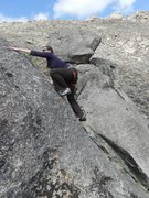 Rock Climbing Photo: Ali at the top of TP