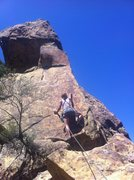 Rock Climbing Photo: Desiree took her first leader fall on this pitch! ...