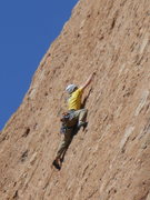 "Rock Climbing Photo: A climber working the pockets midway up ""Befo..."