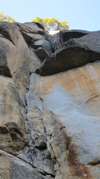 Rock Climbing Photo: This the 'third' variation for P2 that isn't in th...