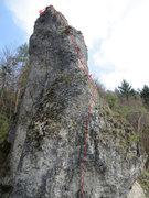 Rock Climbing Photo: Talseite follows the line with some climbing hidde...