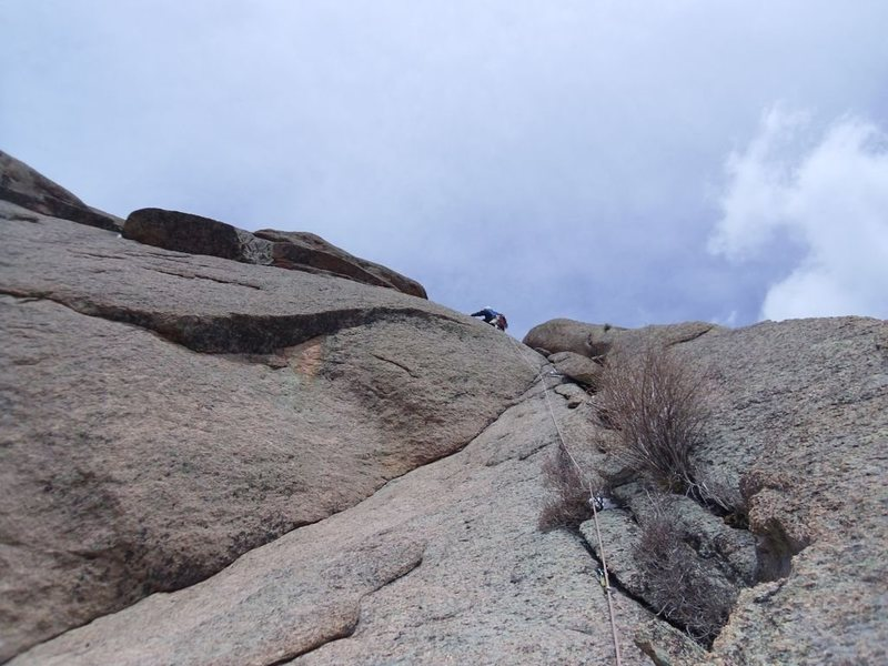 Rock Climbing Photo: heading to the 4th