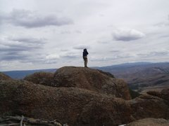 Rock Climbing Photo: looking out over the top