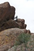 Rock Climbing Photo: Rappelling from the First Sister