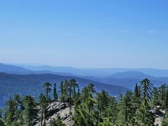 Rock Climbing Photo: Looking south from the Boulder Basin CG road, Blac...