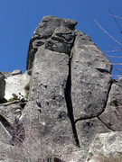 Rock Climbing Photo: The west Twin Owl, south face. Unnamed 5.8s go up ...
