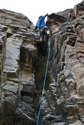 Rock Climbing Photo: Climbing the chimney on Guanica on the Lefthand Wa...