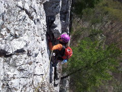 Rock Climbing Photo: On the 3rd pitch of prune