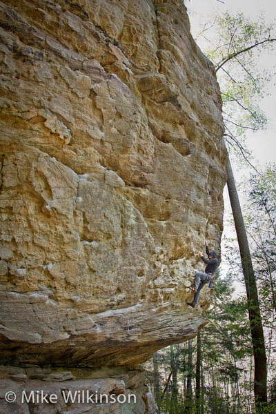 Rock Climbing Photo: Chris working out the sequence on Count Floyd Show...