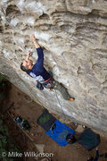Rock Climbing Photo: Lloyd working up Plate Tectonics.