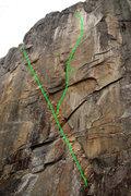 Rock Climbing Photo: 1: Dikenstein 5.11c 2:Glueless    5.14a