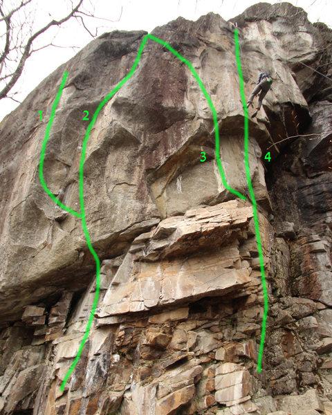 Rock Climbing Photo: 1:The Pastery Works     5.13b 2:yellow Matter Cust...