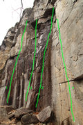 Rock Climbing Photo: 1:After the Fox 5.13c 2:Crank Case 5.11a 3:Midnigh...