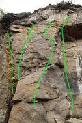 Rock Climbing Photo: 1.Flirting With Dikes 5.10d 2Eyeless in Gaza 5.12b...