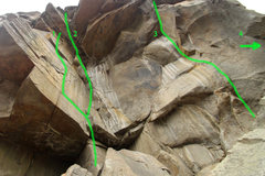 Rock Climbing Photo: 1:Vanishing Point 5.12d 2:Toothless grin 5.12a (to...