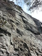 Rock Climbing Photo: From below.  Fun features on a gently overhanging ...