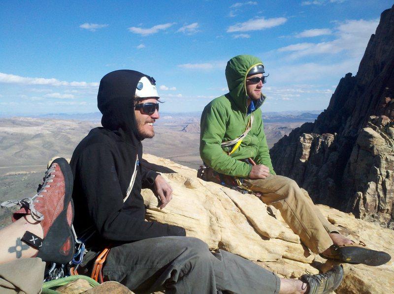 Sam & Taylor rest on Upper Solar Slabs
