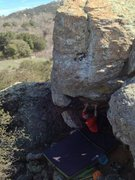 Rock Climbing Photo: Nick Franco getting ready to fire for the ledge