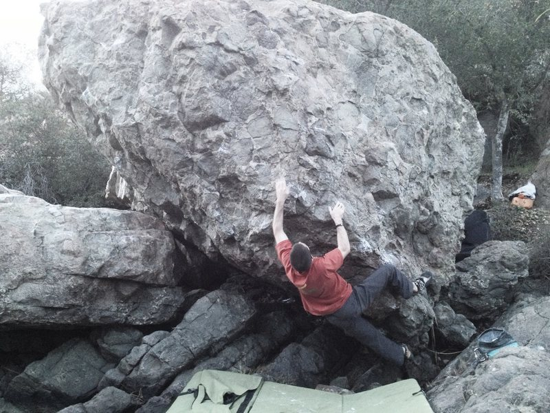 Rock Climbing Photo: Franco making moves on Super Bowl