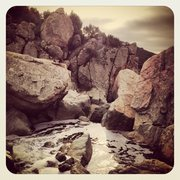 Rock Climbing Photo: Waterfall area with Still waters run deep on the l...