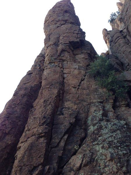 Rock Climbing Photo: After crossing under the roof to the right continu...