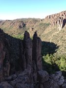 """Rock Climbing Photo: The view to """"Proto Pipe"""" and the south s..."""