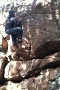Rock Climbing Photo: Kenny on Hamburger.