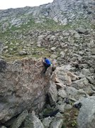 Rock Climbing Photo: MZ at Lincoln Lake.
