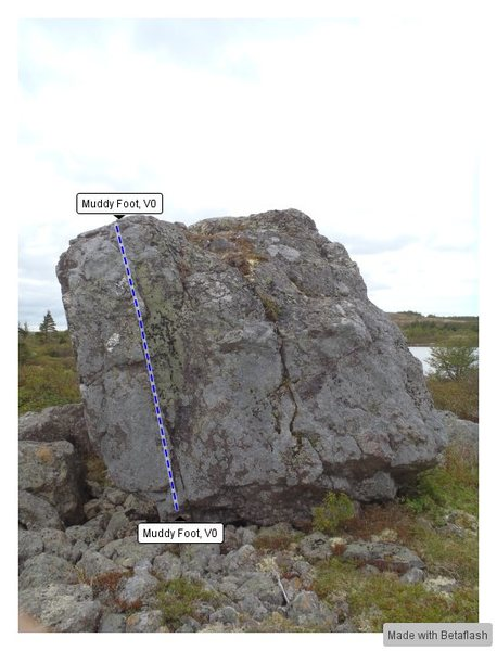 Rock Climbing Photo: Island Right Topo
