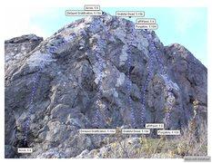 Rock Climbing Photo: Portugal Cove Left Topo