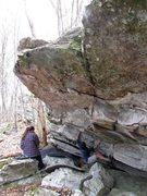 Rock Climbing Photo: Kent on the FA of Zen Garden