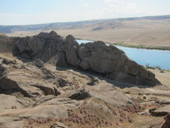 Rock Climbing Photo: Looking at River Wall East and Ili River.