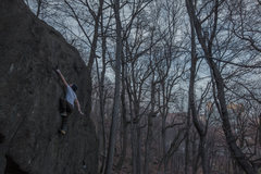 Unknown problem. V3, Highball. Inwood Park, Manhattan, NYC.