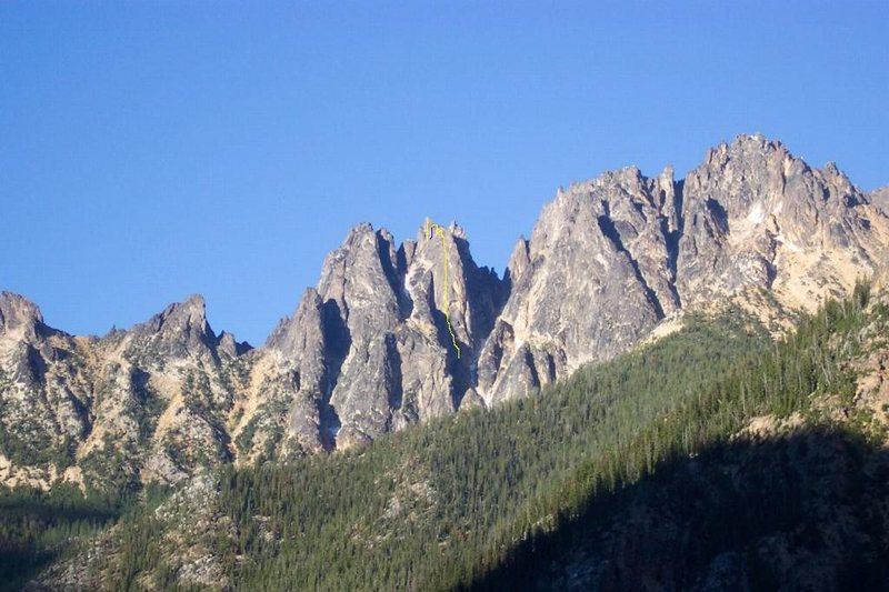 Rock Climbing Photo: The Wine Spires with the line we climbed