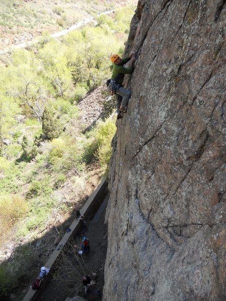 Climbing in Clear Creek