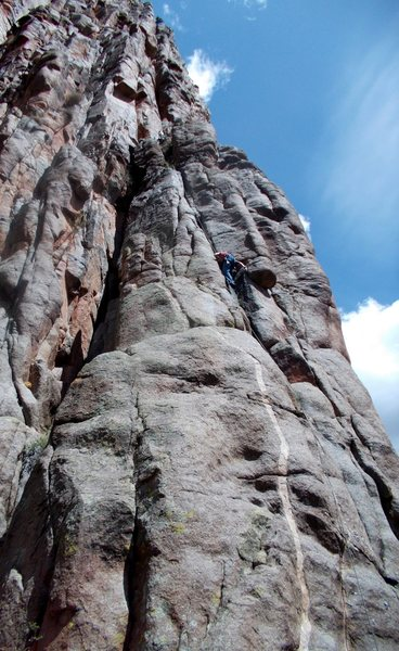 Rock Climbing Photo: The upper crack.