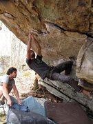 Rock Climbing Photo: Aaron James Parlier on the FA of Entelechy