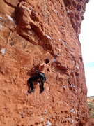 Rock Climbing Photo: Best outdoor dyno ive ever been on. two well place...