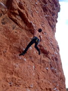 Rock Climbing Photo: Stick clipping the bolt above the dyno is recommen...