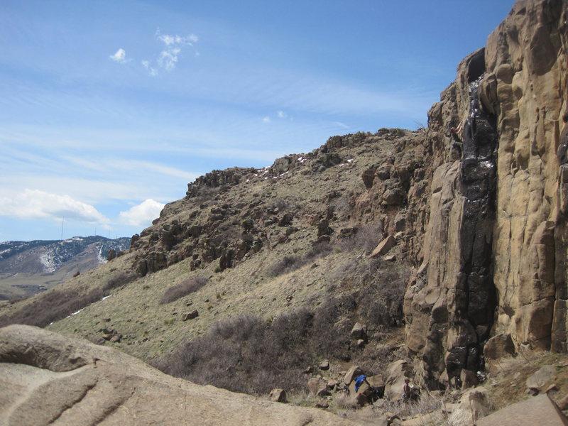 Rock Climbing Photo: Wet but nice.