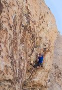 Rock Climbing Photo: Climber on Shut Up and Climb