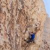 Climber on Shut Up and Climb