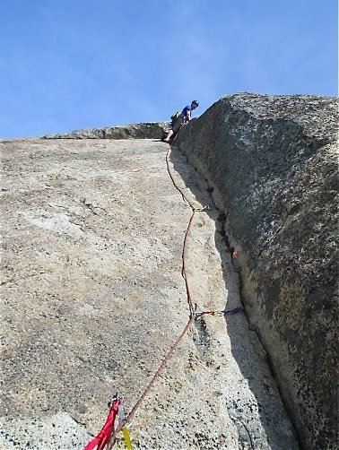 Pitch 3 , with belay shown
