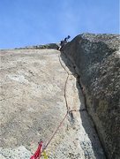 Rock Climbing Photo: Pitch 3 , with belay shown