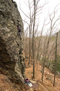 Rock Climbing Photo: wide angle of the whole route...