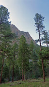 Rock Climbing Photo: Tradistan Tower from the Pine River Trail, right b...