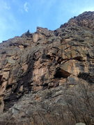 Rock Climbing Photo: No Country For Old Men, 5.10+. Visible in this pho...