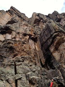 Rock Climbing Photo: We went this-a-way on pitch two. I believe the act...
