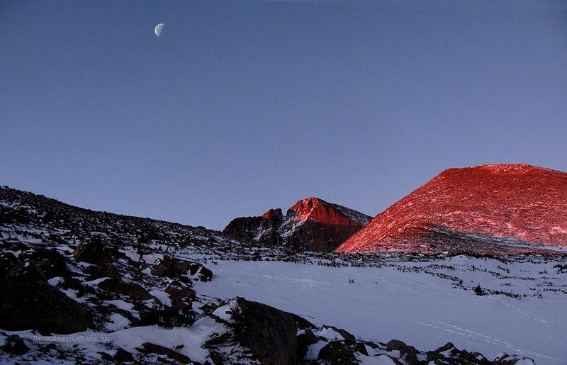 Winter ascent, Long's Peak, 1-4-13.